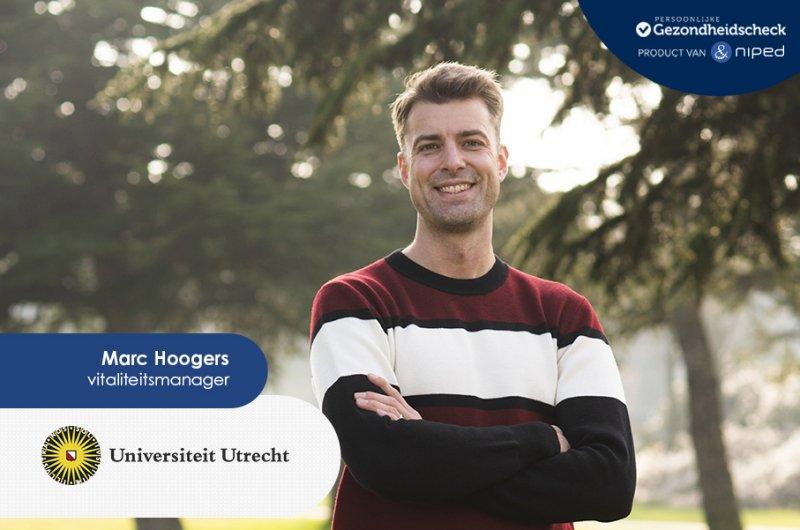 Marc Hoogers, vitaliteitsmanager Universiteit Utrecht