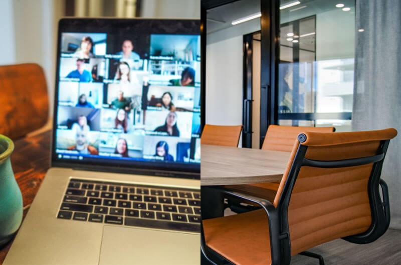 Hybride werken speelt zich deels op kantoor af en deels ergens anders